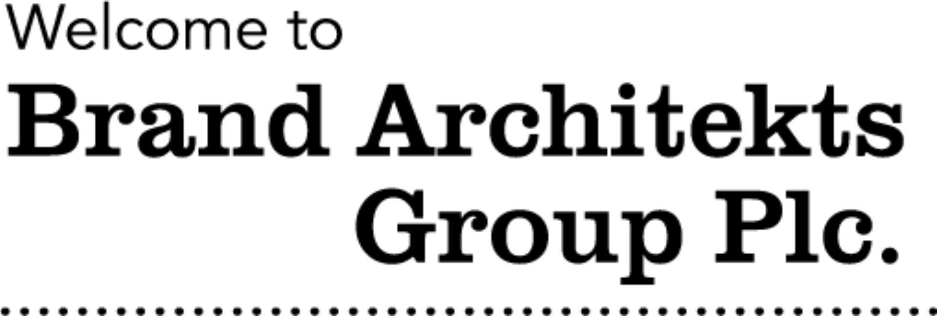 Brand architekts welcome mobile 2x