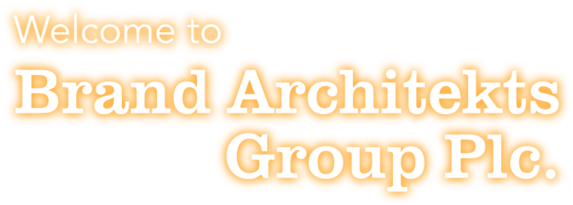 Brand architekts welcome orange
